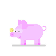 piggy bank icon pig