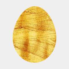 Illustration of a Golden Egg isolated on white background.