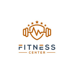 fitness gym logo template vector illustration