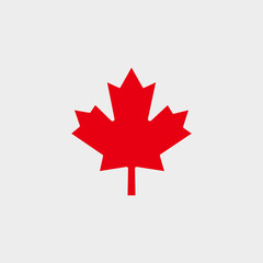 Red Maple Leaf. Canadian Flag Vector Shape.