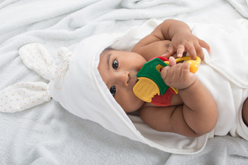 Cute little baby play Teether