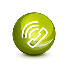 Phone support call center button