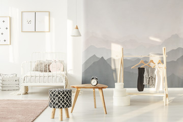 Stylish little girl's bedroom