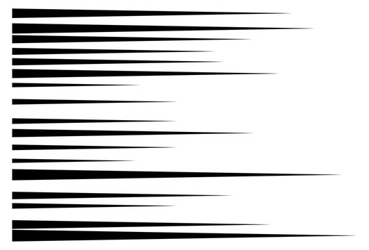 horizontal motion speed lines for comic book