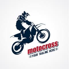 Extreme Motocross Logo Designs Template