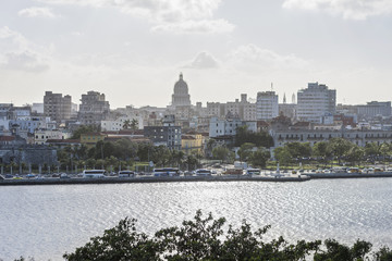 View of city at waterfront, Havana, Cuba
