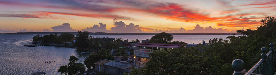 Scenic view of Cienfuegos Bay, Cuba