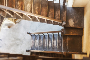 Wooden stairway of Sao Francisco Church, Trinidad, Cuba
