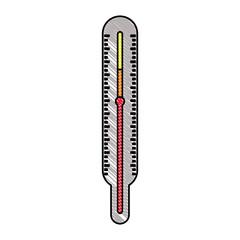 thermometer measure temperature icon vector illustration design