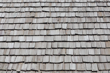 background of roof made from wood board