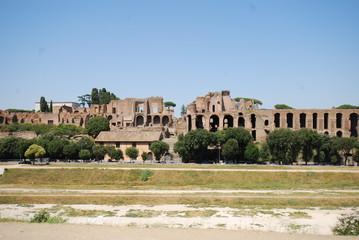 Circus Maximus; historic site; ancient history; sky; ruins