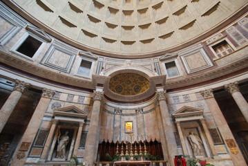 Pantheon; landmark; building; ceiling; classical architecture