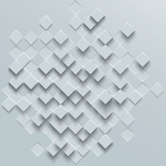 Abstract geometric shape from gray rhombus, vector background.