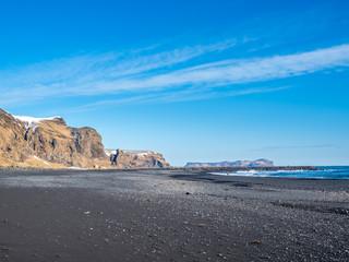 Reynisfjara black sand beach in Vik, Iceland