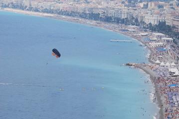 Nice; air sports; paragliding; coastal and oceanic landforms; coast
