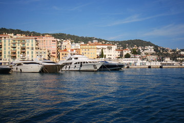 Port of Nice; marina; waterway; sea; water