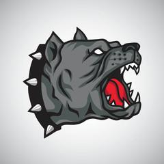Angry Pitbull Dog Logo Mascot Design Template Vector