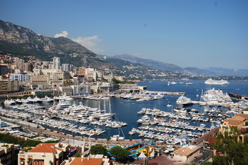 Monte-Carlo; Monte Carlo; marina; city; sea; sky