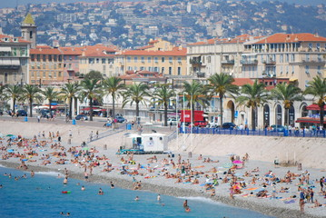 Promenade des Anglais; beach; body of water; water; sea