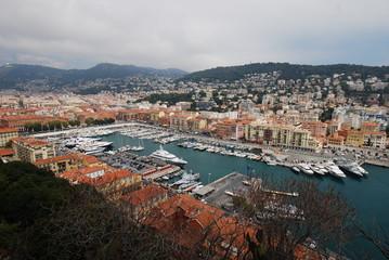 Port of Nice; city; marina; sky; harbor