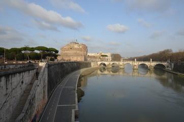 Castel Sant`Angelo; reflection; sky; waterway; body of water