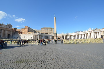 Saint Peter`s Square; sky; town square; landmark; town