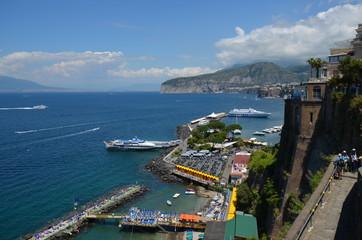 Marina Piccola; sea; waterway; coast; promontory