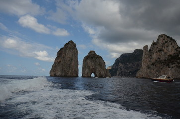 Faraglioni; coastal and oceanic landforms; sea; coast; rock