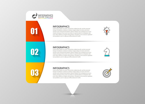 Infographic design template. Business concept with 3 steps