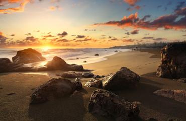 Crépucule plage de Bois Blanc, La Réunion