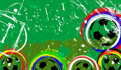 Football / soccer grunge design template , free copy space