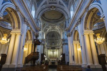 Altar of a church in Ragusa, Sicily, Italy