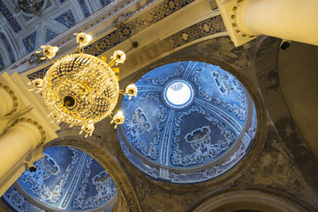Ceiling of a church in Ragusa, Sicily, Italy