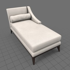 Classical chaise longue