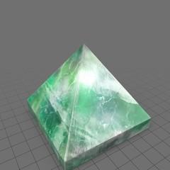 Pyramid shaped magic crystal