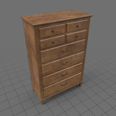 Traditional wooden dresser