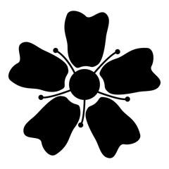 Flower Sakura icon black color illustration flat style simple image