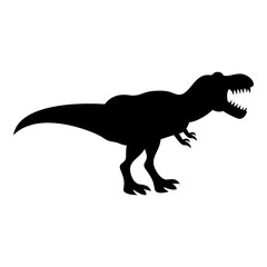Dinosaur tyrannosaurus t rex icon black color illustration flat style simple image