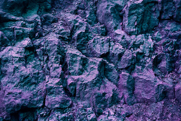Creative Organic Stone Texture And Background In Ultra Violet And Green