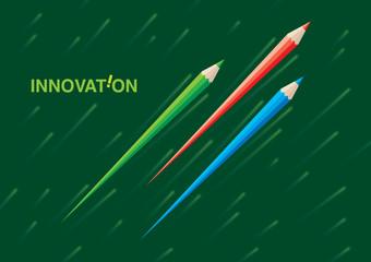speed pencil, pencil new idea, quick pencil illustration vector