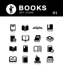 Literature and books icons.
