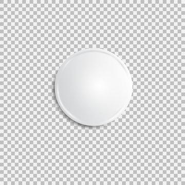 Realistic white badge.