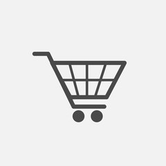 Cart trolley vector icon for shopping