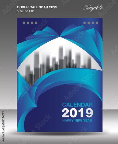 u0026quot blue cover desk calendar 2019 design  book cover  annual