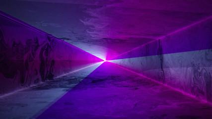 Blue and purple laser light tunnel background, alpha matte