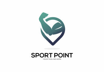 Sport Point Logo Vector Element Symbol