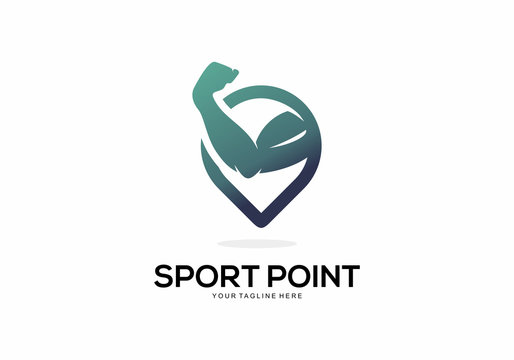 Sport Point Logo Vector Element Symbol