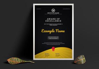 Merit Certificate Layout