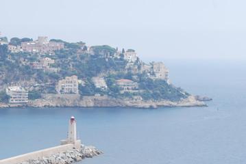 Port of Nice; Promenade des Anglais; sea; coast; coastal and oceanic landforms; headland