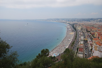 Promenade des Anglais; Nice; sea; body of water; coast; sky